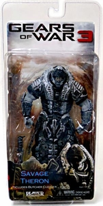 NECA Gears of War 3 Series 3 Action Figure Savage Theron {Version 2} [All Black Faceplate]