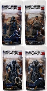 NECA Gears of War 3 Series 3 Set of 4 Action Figures [Marcus Fenix, COG Soldier, Savage Therons V1 & V2]