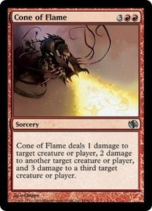 Magic the Gathering Duel Decks: Jace vs. Chandra Single Card Uncommon #54 Cone of Flame
