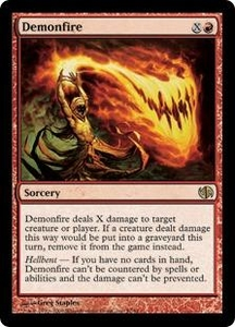 Magic the Gathering Duel Decks: Jace vs. Chandra Single Card Rare #57 Demonfire