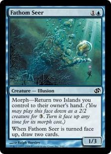 Magic the Gathering Duel Decks: Jace vs. Chandra Single Card Common #3 Fathom Seer