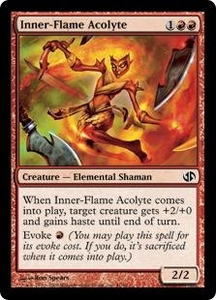 Magic the Gathering Duel Decks: Jace vs. Chandra Single Card Common #41 Inner-Flame Acolyte