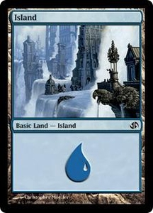 Magic the Gathering Duel Decks: Jace vs. Chandra Single Card Land #30 Island [Random Artwork]