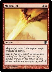 Magic the Gathering Duel Decks: Jace vs. Chandra Single Card Uncommon #52 Magma Jet