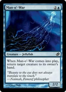 Magic the Gathering Duel Decks: Jace vs. Chandra Single Card Common #8 Man-o'-War