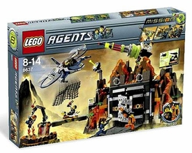 LEGO Agents Exclusive Set #8637 Mission 8: Volcano Base