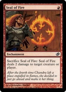 Magic the Gathering Duel Decks: Jace vs. Chandra Single Card Common #50 Seal of Fire
