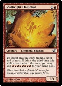 Magic the Gathering Duel Decks: Jace vs. Chandra Single Card Common #37 Soulbright Flamekin