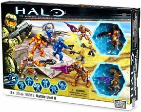 Halo Wars Mega Bloks Exclusive Set #96915 Battle Unit II [8 Mini Figures!]