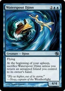 Magic the Gathering Duel Decks: Jace vs. Chandra Single Card Uncommon #11 Waterspout Djinn