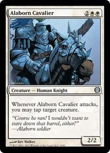 Magic: The Gathering Duel Decks: Knights vs. Dragons Single Card White Uncommon #18 Alaborn Cavalier