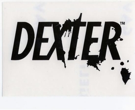 Dexter Rub On Sticker Dexter Logo Black