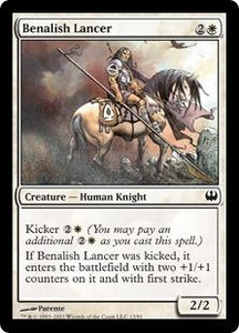 Magic: The Gathering Duel Decks: Knights vs. Dragons Single Card White Common #12 Benalish Lancer