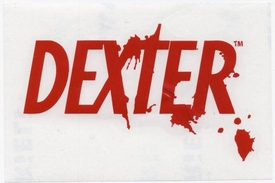 Dexter Rub On Sticker Dexter Logo Red