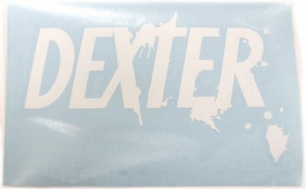 Dexter Rub On Sticker Dexter Logo White