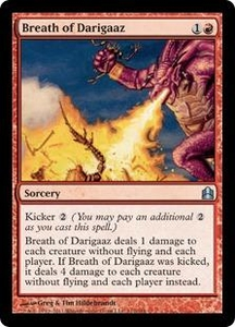 Magic: The Gathering Duel Decks: Knights vs. Dragons Single Card Red Uncommon #64 Breath of Darigaaz