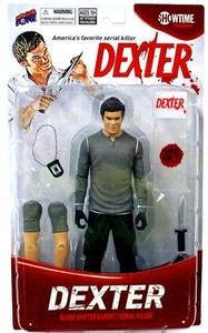 Bif Bang Pow! Dexter 7 Inch Action Figure Dexter Morgan [Includes Garbage Bag & Exclusive Blood Slide!]