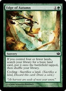 Magic: The Gathering Duel Decks: Knights vs. Dragons Single Card Green Common #25 Edge of Autumn