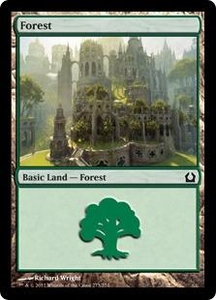 Magic: The Gathering Duel Decks: Knights vs. Dragons Single Card  Land #43 Forest