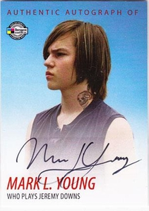 Dexter Trading Cards Authentic Autograph Card #DA10 Mark L. Young [Jeremy Downs]