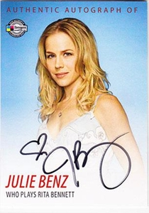 Dexter Trading Cards Authentic Autograph Card #DA2 Julie Benz [Rita Bennett]