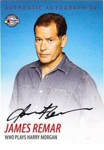 Dexter Trading Cards Authentic Autograph Card #DA6 James Remar [Harry Morgan]