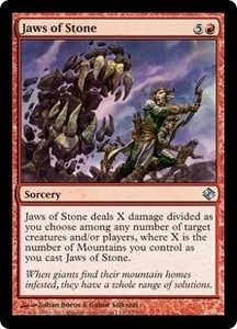 Magic: The Gathering Duel Decks: Knights vs. Dragons Single Card Red Uncommon #77 Jaws of Stone