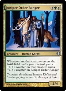 Magic: The Gathering Duel Decks: Knights vs. Dragons Single Card Multicolor Uncommon #21 Juniper Order Ranger