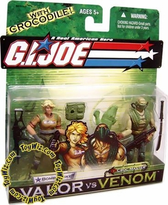 GI Joe Hasbro Valor Vs. Venom 3 3/4 Inch Action Figure 2-Pack Bombstrike & Croc Master BLOWOUT SALE!