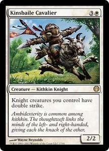 Magic: The Gathering Duel Decks: Knights vs. Dragons Single Card White Rare #17 Kinsbaile Cavalier