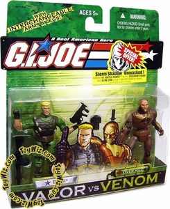 GI Joe Hasbro Valor Vs. Venom 3 3/4 Inch Action Figure 2-Pack Duke & Overkill