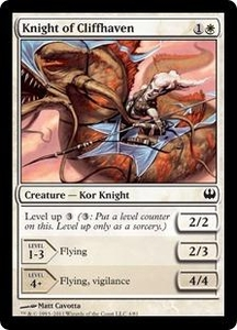Magic: The Gathering Duel Decks: Knights vs. Dragons Single Card White Common #4 Knight of Cliffhaven