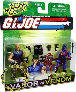 GI Joe Hasbro Valor Vs. Venom 3 3/4 Inch Action Figure 2-Pack Gung Ho & Cobra Viper BLOWOUT SALE!