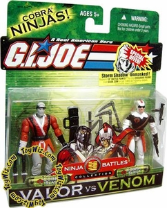 GI Joe Hasbro Valor Vs. Venom 3 3/4 Inch Action Figure 2-Pack Cobra Slash & Cobra Slice