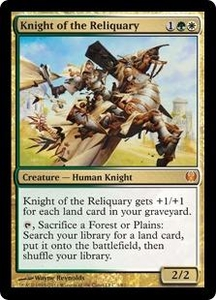 Magic: The Gathering Duel Decks: Knights vs. Dragons Single Card Multicolor Mythic Rare #1 Knight of the Reliquary