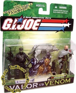 GI Joe Hasbro Valor Vs. Venom 3 3/4 Inch Action Figure 2-Pack Snake Eyes & Swamp Rat