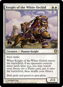 Magic: The Gathering Duel Decks: Knights vs. Dragons Single Card White Rare #6 Knight of the White Orchid