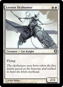 Magic: The Gathering Duel Decks: Knights vs. Dragons Single Card White Uncommon #7 Leonin Skyhunter