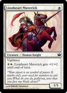 Magic: The Gathering Duel Decks: Knights vs. Dragons Single Card White Common #3 Lionheart Maverick