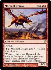 Magic: The Gathering Duel Decks: Knights vs. Dragons Single Card Red Rare #58 Mordant Dragon