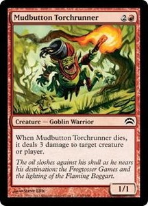 Magic: The Gathering Duel Decks: Knights vs. Dragons Single Card Red Common #52 Mudbutton Torchrunner