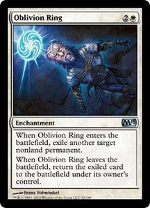 Magic: The Gathering Duel Decks: Knights vs. Dragons Single Card White Common #34 Oblivion Ring