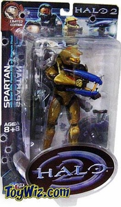 Halo 2 Action Figures Exclusive Gold Battle Damaged Spartan