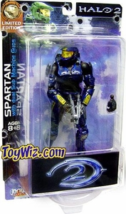 Halo 2 Action Figures Limited Edition Blue Battle Damaged Spartan [Dual Sub Machine Gun]