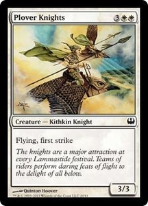 Magic: The Gathering Duel Decks: Knights vs. Dragons Single Card White Common #20 Plover Knights
