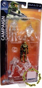 Halo 2 Limited Edition Active Camouflage 1/18 Scale Mini Figure 5-Pack [Elite, Spartan & 2 Grunts]