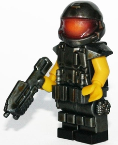 Brick Mercenaries Custom Painted Minifigure Space Marine [Kneepads 2]