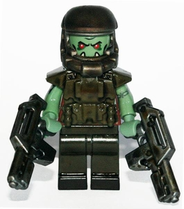 Brick Mercenaries Premium Custom Painted Minifigure Post Apoc Orc 1