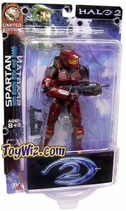 Halo 2 Action Figures Exclusive Red Battle Damaged Spartan