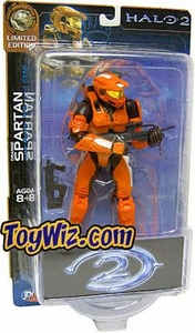 Halo 2 Action Figures Exclusive Orange Spartan BLOWOUT SALE!